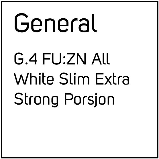 G.4 FU:ZN All White Slim Extra Strong Porsjonssnus