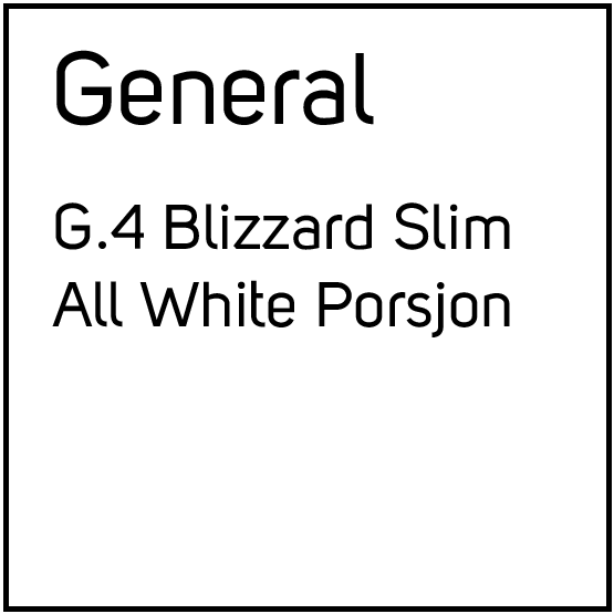 General G.4 Blizzard Slim All White Porsjonssnus