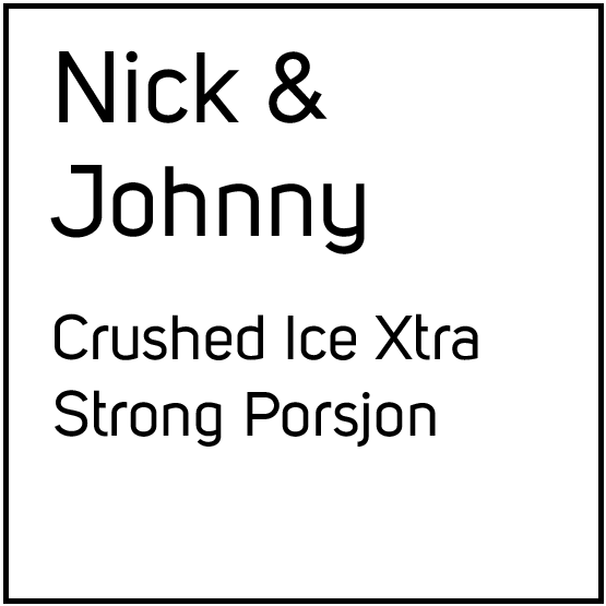 Nick and Johnny Crushed Ice Xtra Strong Porsjonssnus