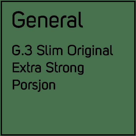 General G.3 Slim Original Extra Strong Porsjonssnus