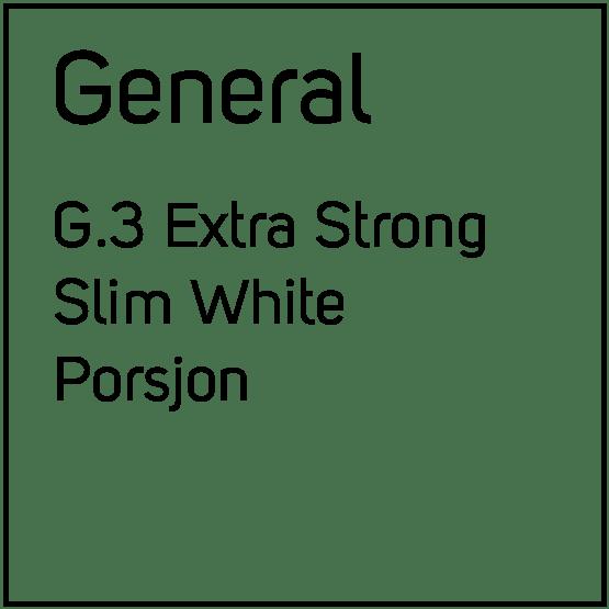 General G.3 Extra Strong Slim White Porsjonssnus