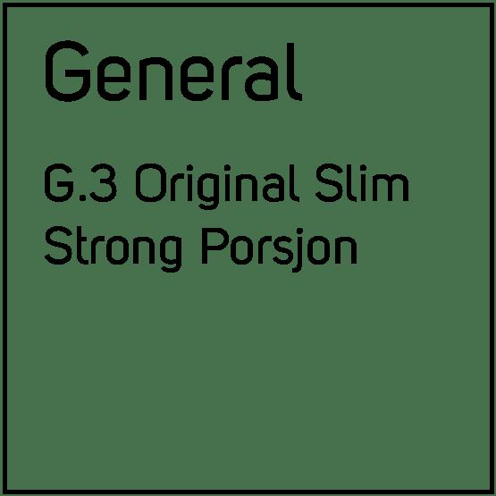 General G.3 Original Slim Strong Porsjonssnus