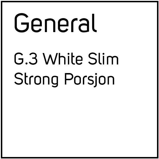General G.3 White Slim Strong Porsjonssnus