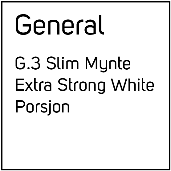 General G.3 Slim Mynte Extra Strong White Porsjonssnus