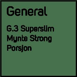 G.3 No6 Blue Super Slim Strong