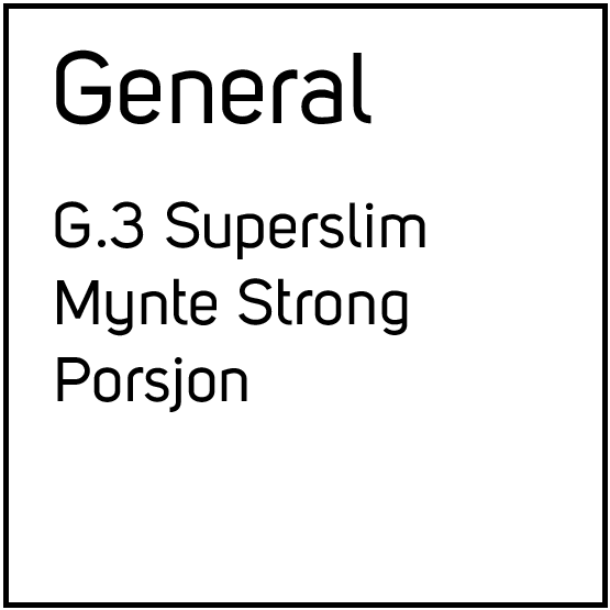 General G.3 Superslim Mynte Strong Porsjonssnus