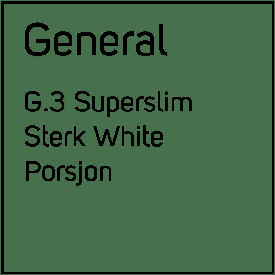 General G.3 Superslim Sterk White Porsjonssnus