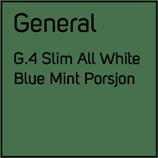 General G.4 Slim All White Blue Mint Porsjonssnus