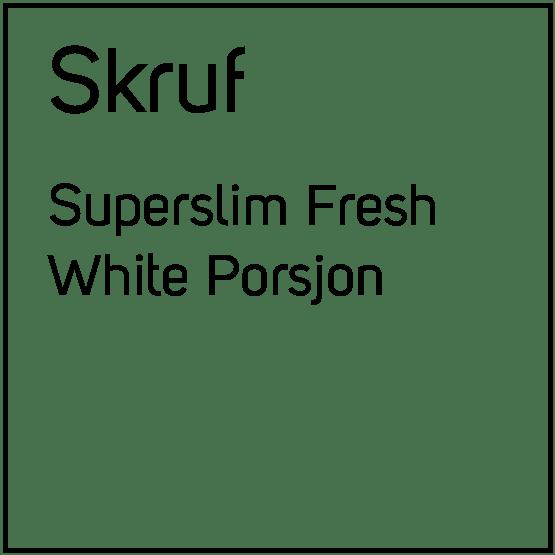 Skruf Superslim Fresh White Porsjonssnus