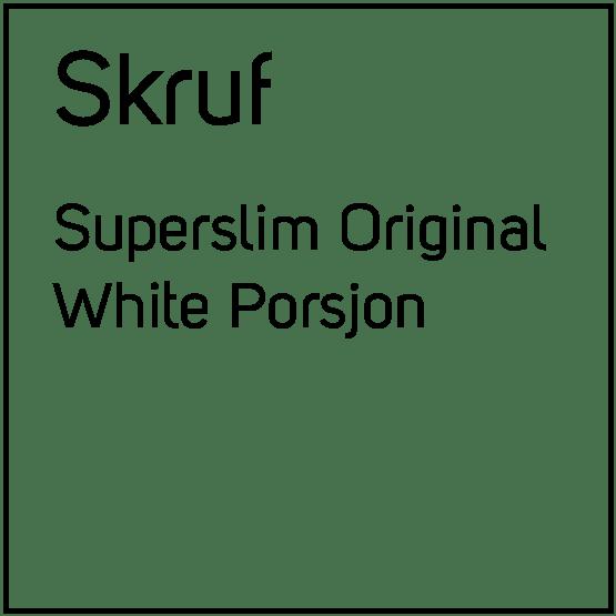 Skruf Superslim Original White Porsjonssnus