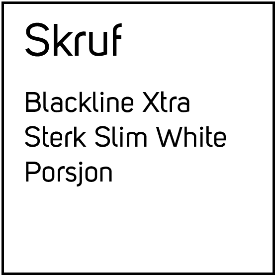 Skruf Blackline Xtra Sterk Slim White Porsjonssnus