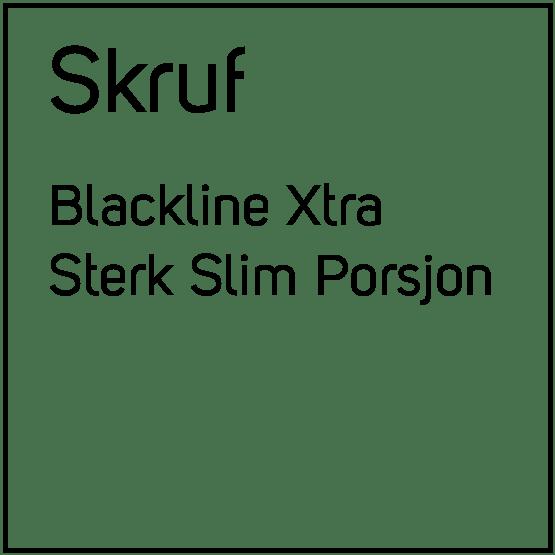 Skruf Blackline Xtra Sterk Slim Porsjonssnus