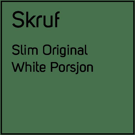 Skruf Slim Original White Porsjonssnus