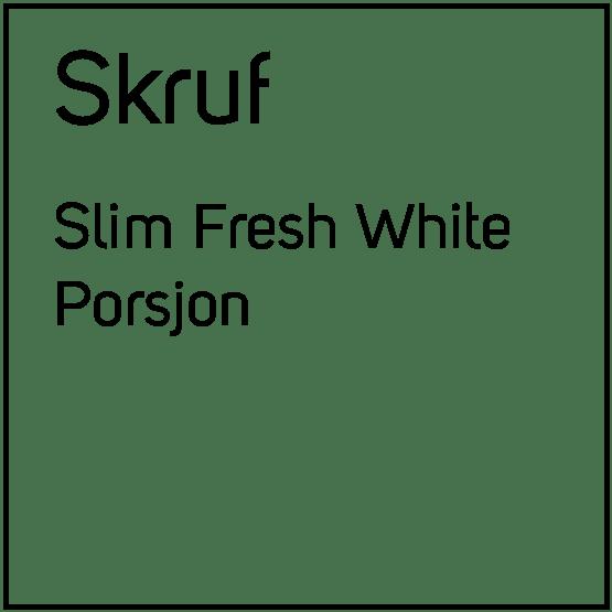Skruf Slim Fresh White Porsjonssnus