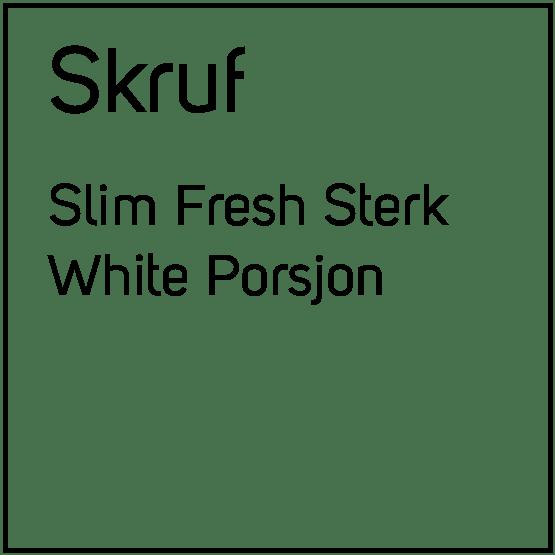Skruf Slim Fresh Sterk White Porsjonssnus