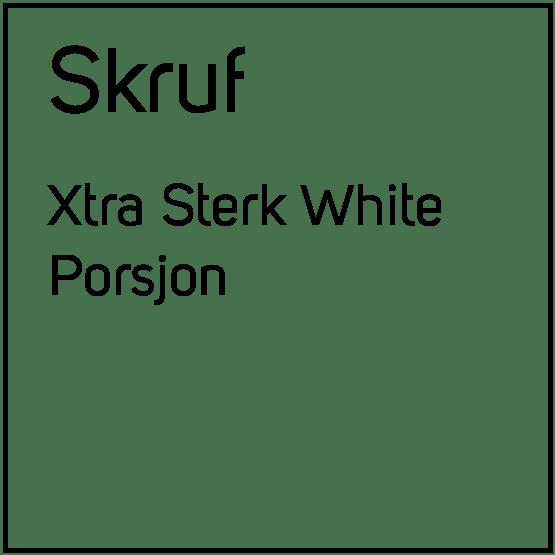 Skruf Xtra Sterk White Porsjonssnus