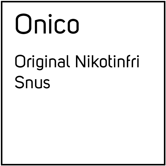 Onico Original Nikotinfri Snus