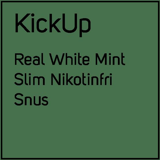 KickUp Real White Mint Slim Nikotinfri Snus