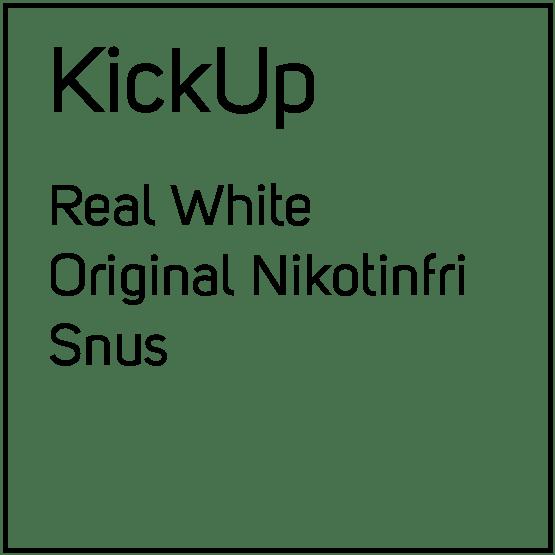 KickUp Real White Original Nikotinfri Snus