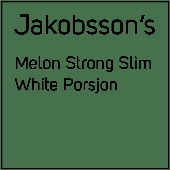 Jakobsson's Melon Strong Slim White Porsjonssnus