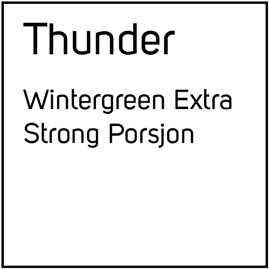 Thunder Wintergreen Extra Strong Porsjonssnus