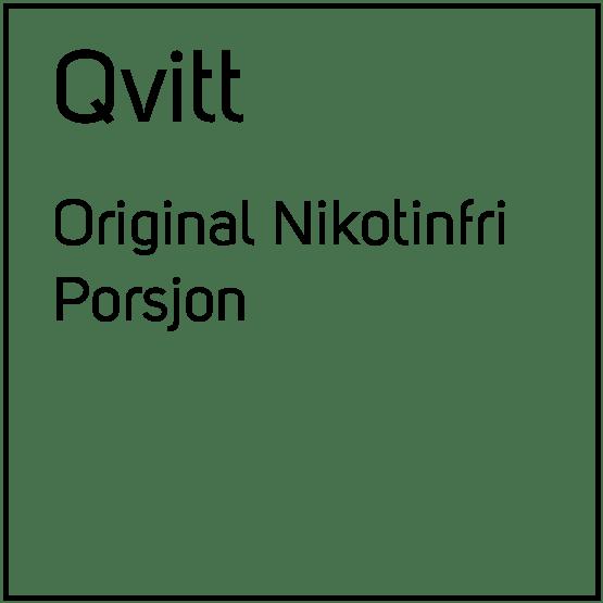 Qvitt Original Nikotinfri Porsjonssnus