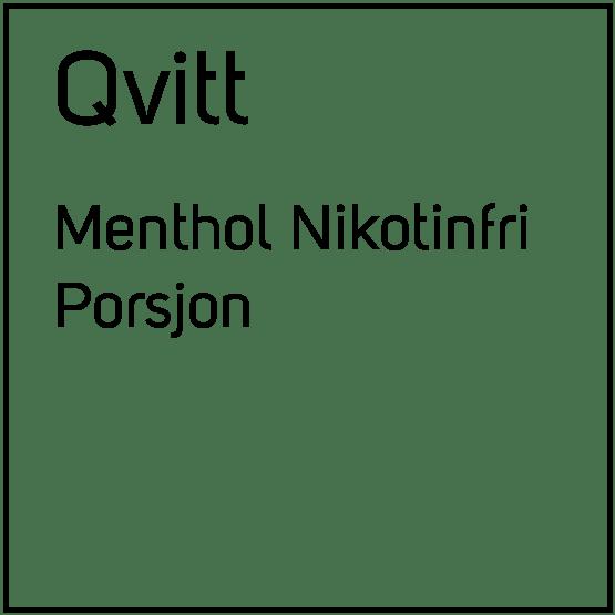 Qvitt Menthol Nikotinfri Porsjonssnus