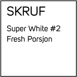Skruf Super White #2 Fresh Porsjonssnus