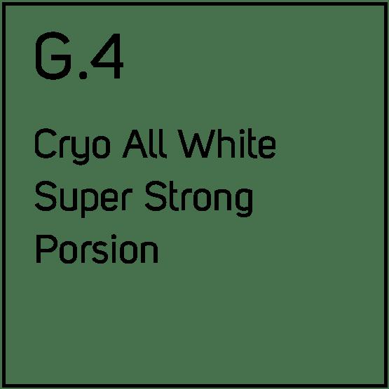 G.4 Cryo All White Super Strong Porsjonssnus