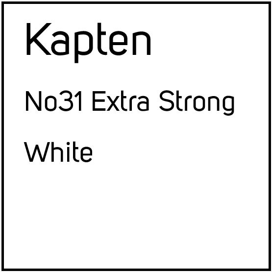 Kapten No31 Extra Strong White