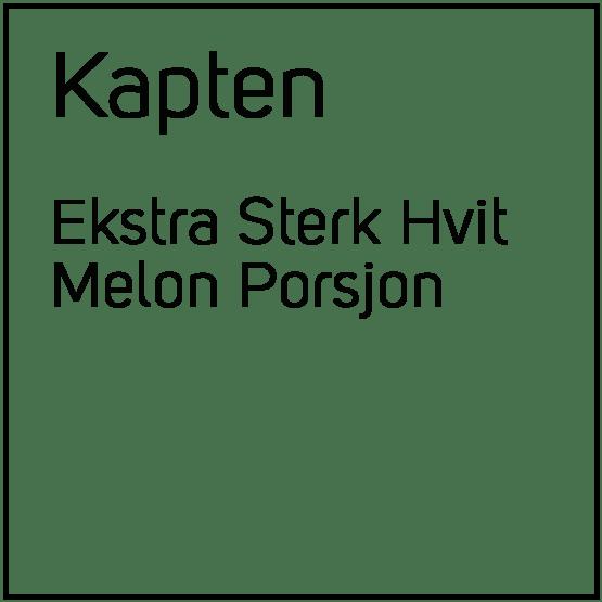 Kapten Ekstra Sterk Hvit Melon Porsjonssnus