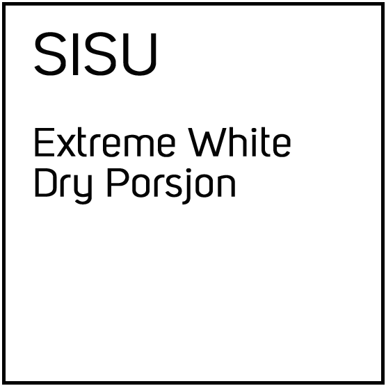 SISU Extreme White Dry Porsjonssnus
