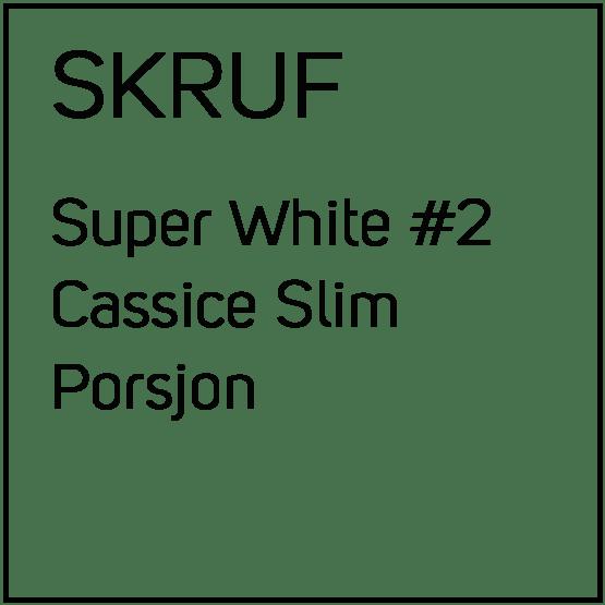 Skruf Super White Cassice Slim Porsjonssnus