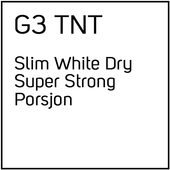 General G.3 T.N.T Slim White Dry Super Strong